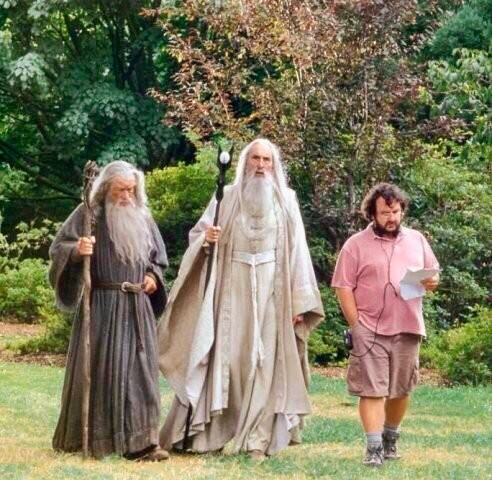 Il signore degli anelli, Gandalf, Saruman, Peter Jackson, Christopher Lee, Ian McKellen, backstage, 2 Qualunque, Radio Godot, Cinemautografo, Emanuele Conti