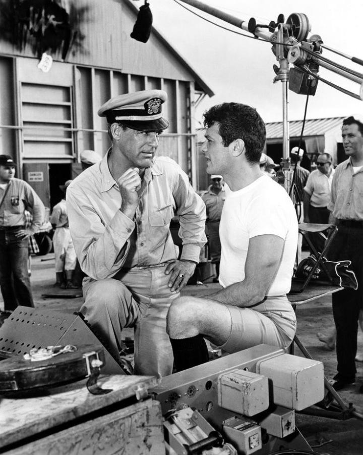 Cary Grant, Tony Curtis, Black Edwards, Operazione Sottoveste, backstage, 2 Qualunque, Radio Godot, Cinemautografo, Emanuele Conti